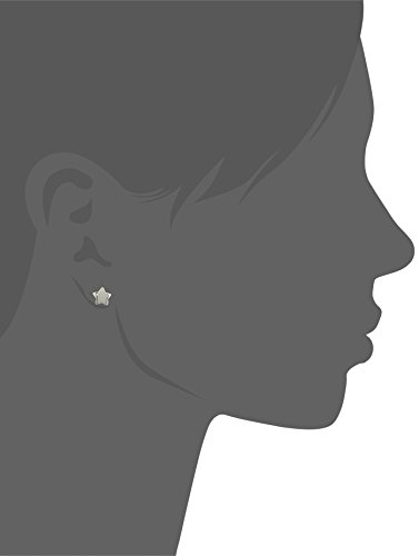 "Alex Woo ""Mini Additions"" Silver Moon and Star Stud Earrings"