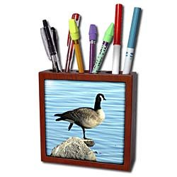 Cassie Peters Photography - Canada Goose Photographed by Angelandspot - Tile Pen Holders-5 inch tile pen holder