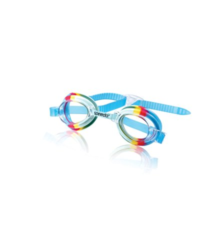 Speedo Kids' Tye Dye Swim Goggle, Rainbow Cool