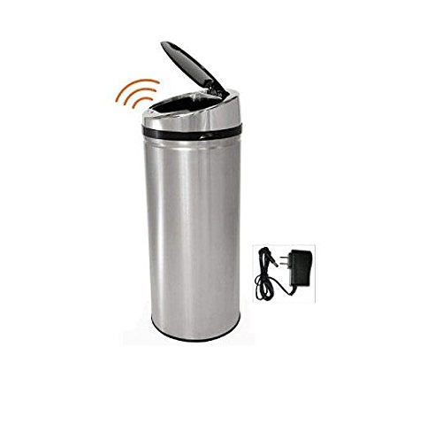iTouchless Automatic Stainless Steel Touchless Trash Can (Wine Barrel Garbage Can compare prices)