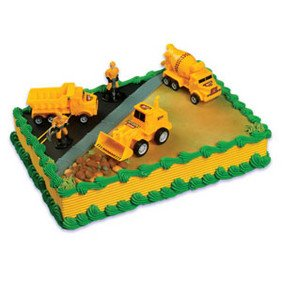 Toy / Game A Birthday Place Construction Scene Cake Topper Kit With Actual Color (For Ages 3 Years And Up)