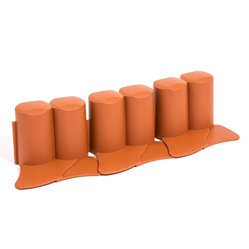 3 2 m palisade beetumrandung terracotta plast rasenbord. Black Bedroom Furniture Sets. Home Design Ideas