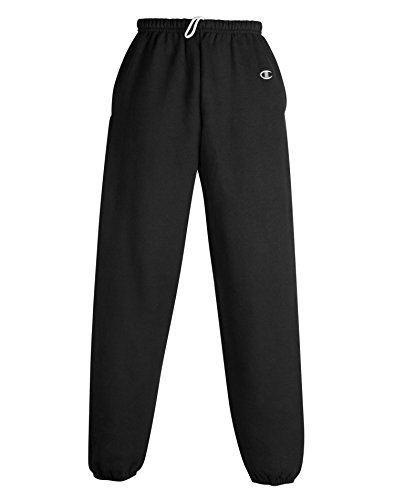 Champion Men's Cotton Max Fleece Pant, Black