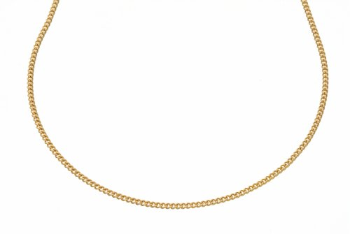 Pendant Necklace, 9ct Yellow Gold Curb Chain, 41cm Length, Model 50 UKDY