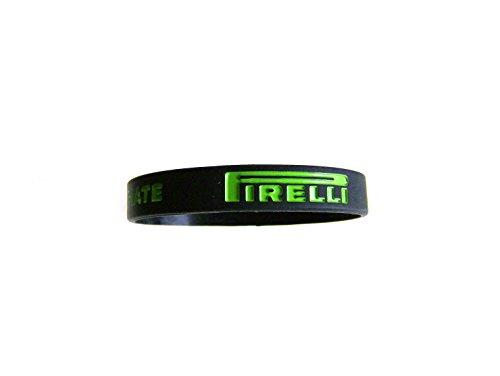 Pirelli Charms silicone e caucciù Sport anello braccialetto nero/verde