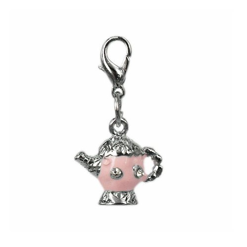 Charm teapot in steel by Charming Charms. Free shipping up to 30£
