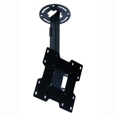 """Peerless Pc932C-S Adjustable Tilt Ceiling Mount For 15"""" To 37"""" Displays With 20.25"""" To 34"""" Extension (Silver)"""