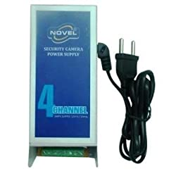 NOVEL 4 Channel/Camera CCTV Power Supply With Power Cord