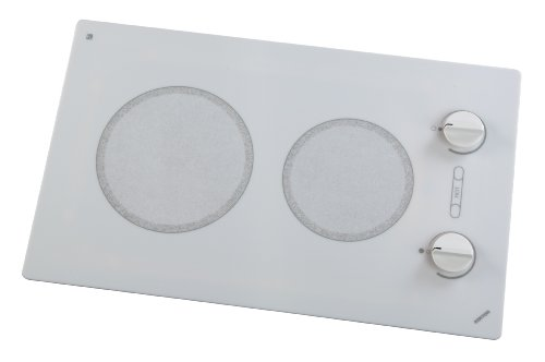 Kenyon B49511 6-1/2 and 8-Inch Alpine 2-Burner Cooktop with Analog Control UL, 240-volt, White