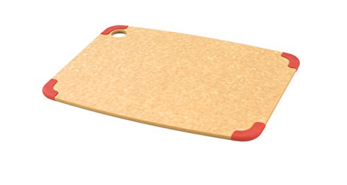 Epicurean Non-Slip Series Cutting Board, 14.5-Inch by 11.25-Inch, Natural/Red