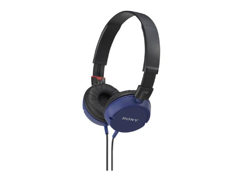 Sony Stereo Headphones Mdr-Zx100 Blue | Swivel Holding Overhead (Japan Import)