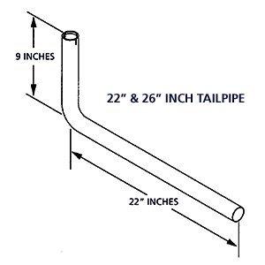 Cummins Onan (155-3481-02) Tail Pipe/Exhaust Kit