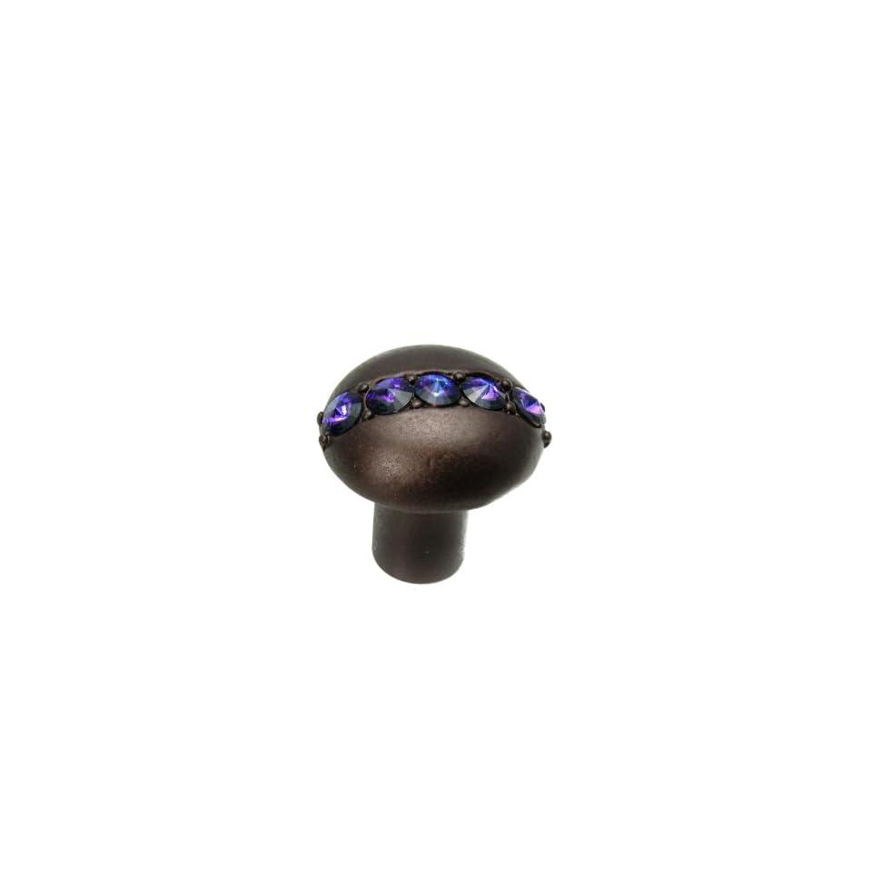 Satin 1-1/4-Inch Carpe Diem Hardware 872-11C Cache Knob with Swarovski Crystals