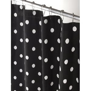 polka dot shower curtain 72 x 66 100 cotton no liner needed home kitchen