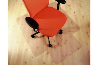 PVC Chair Mat for Hard Floors with Lip 90x120cm. Clear. Delivered Free with a 100% Satisfaction Guarantee by Mats4U.