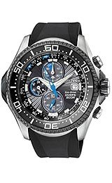 Citizen Eco-Drive Aqualand 200M Diver Black Dial Men's Watch #BJ2115-07E