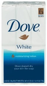 Dove Beauty Bar Soap, White 6 Ea