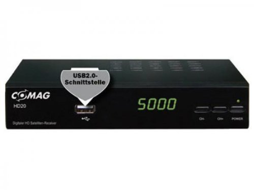 Comag HD 20 HDTV Satelliten Receiver (HDMI 1080p, SCART, USB 2.0, Full HD) schwarz