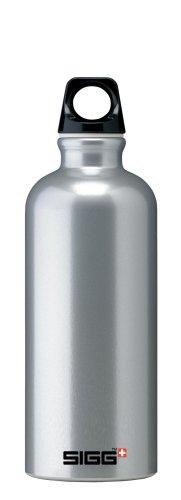 Sigg Traveler Classic Water Bottle (0.6-Liters, Silver)