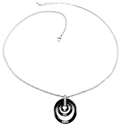 stella-maris-damen-halskette-mit-diamant-anhanger-925-sterling-silber-premium-keramik-schwarz-swarov