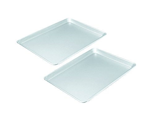 Chicago Metallic Commercial II Traditional Uncoated 16-3/4 by 12-Inch Jelly-Roll Pan, Set of 2 (1 2 Jelly Roll Pan compare prices)