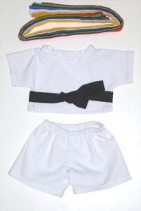 "Karate Uniform Outfit Teddy Bear Clothes Fit 14"" - 18"" Build-a-bear, Vermont Teddy Bears, and Make Your Own Stuffed Animals - 1"