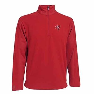 NFL Men's Tampa Bay Buccaneers 3/4 Zip Fleece Pullover