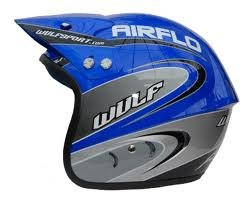 2010 Wulfsport Airflo Trials Open Face Helmet Black 59-60