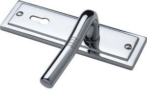 Sandringham Lever Lock Door Handle - Polished Chr by New A-Brend