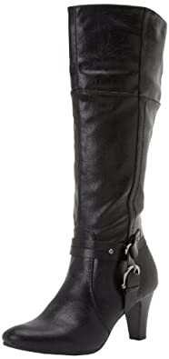 LifeStride Women's Yarn Knee-High Boot,Black,9.5 M US