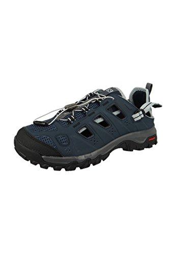 Salomon sandalo Evasion Caprio sandalo all'aperto 381592 Grigio Deep Blue Dar Nube Luce Onix, Salomon Schuhe Herren:42