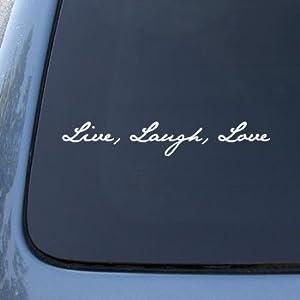 LIVE LAUGH LOVE - Vinyl Car Decal Sticker #1535 | Vinyl Color: White