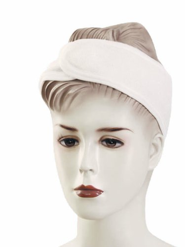 Huini Toweling Headband (Thin Type) Head Band Salon Spa Facial - 10pc in 1 Package White (Package Band compare prices)