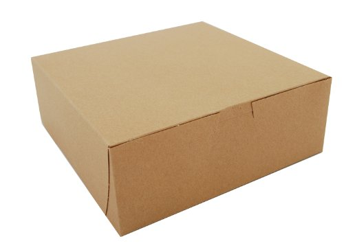 Southern Champion Tray 0937K Kraft Paperboard Non Window Lock Corner Bakery Box, 8