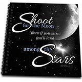 3dRose db_127606_1 Shoot for The Moon is Great for The Graduate or Promotion and Features a Quote by