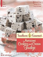 Southern Gourmet, Awesome Cookies & Cream Fudge Mix, 16oz Box (Pack of 2)