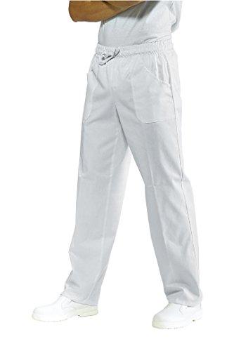 Pantalone sanitario bianco con elastico Isacco L