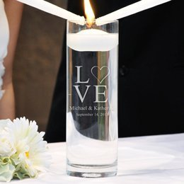 Kitty4U Love Collection Floating Unity Candles (2 Designs Available To Choose From) (Modern Love)