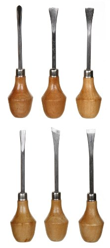 Darice Wood Carving Knife Chisel Set With Large Ball Handles