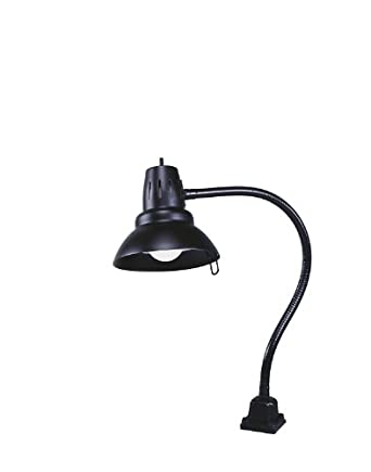electrix 7292 blk gooseneck work lamp incandescent clamp. Black Bedroom Furniture Sets. Home Design Ideas