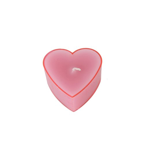 Zest Candle 6-Piece Tealight Candles, Pink Heart
