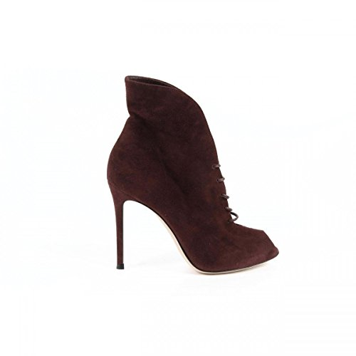 Gianvito Rossi Gianvito Rossi Womens Ankle Boot 50228 CAMOSCIO ROYAL DARK RED
