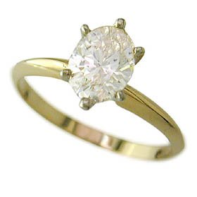 .63ct Oval Diamond Solitaire I Color VS1 clarity GEM LAB CERT &#8211; Size