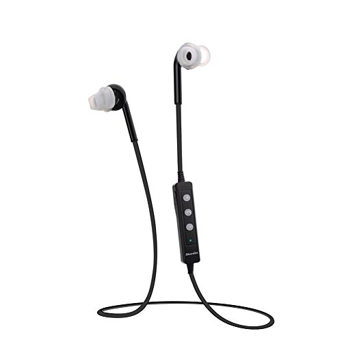 Sweatproof Sport Stereo Music Wireless Bluetooth Headphones Handsfree In-Ear Headset For Iphone 4 4S,Iphone 5 5S 5C,Ipad (Black)