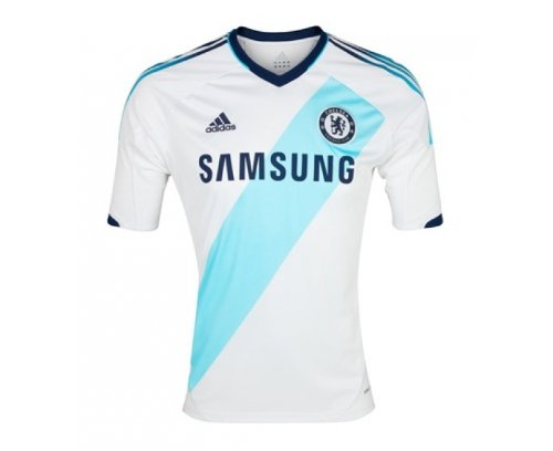 CHELSEA 2012/2013 Junior Away Shirt, White/Blue, Age 12