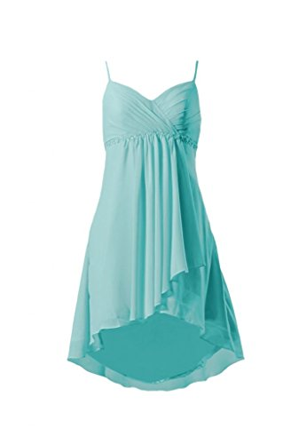 Daisyformals Short Sweetheart Chiffon Prom Dress(Bm1732)- Tiffany Blue
