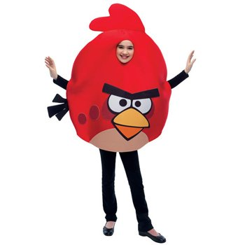 Red Angry Bird Costume, Unisex, Child