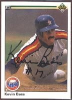 Kevin Bass Houston Astros 1990 Upper Deck Autographed Hand Signed Trading Card. by Hall+of+Fame+Memorabilia