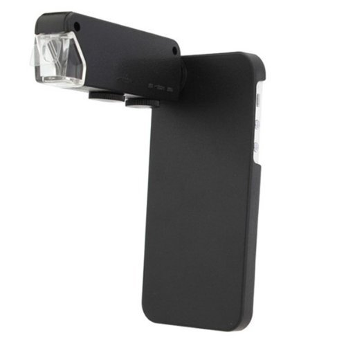 Generic 60~100X Zoom Microscope Lens Case For Iphone 4 Color Black