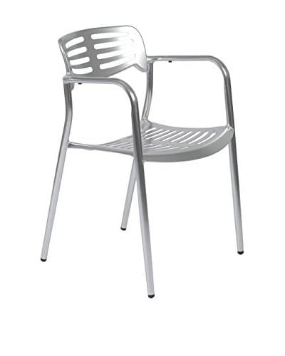 Euro Style Helen Arm Chair, Aluminum
